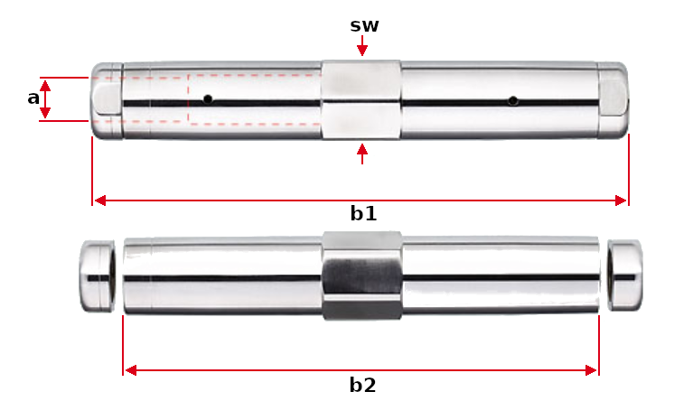 Forte Turnbuckle with Internal Thread Right Left Hand Dimensions