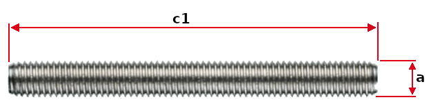 Headless Screw with Right Hand or Left Hand Thread