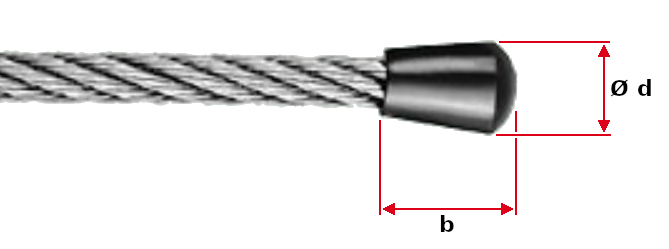 Wire Rope End Caps Dimensions